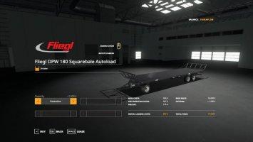 Fliegl DPW 180 Squarebale Autoload