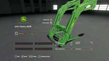 John Deere 6R with color choice + matching FL v1.0.1