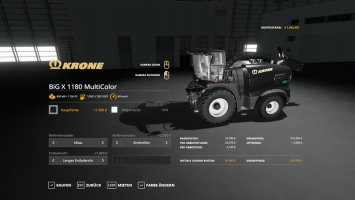 Krone Pack BigX1180 & X-Collect900-3 - MultiColor v1.1 fs19