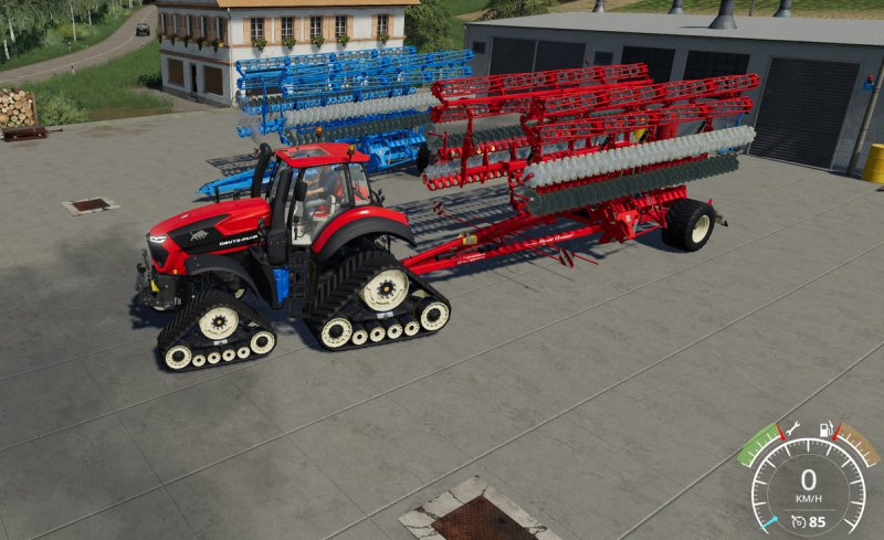 Lemken Gigant 12S plough and grubber MultiColor - FS19 Mod | Mod for