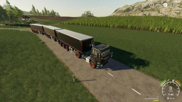 MAN Krampe trailer with trailer coupling Dolly fs19