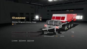 Massey Ferguson Krone Cargo v1.0.0.1 FS19