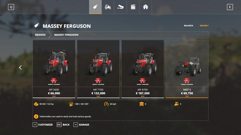 Massey Ferguson tractors v1.0.0.2 FS19