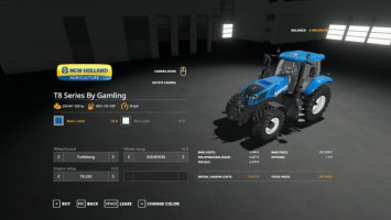New Holland T8 Series By Gamling fs19