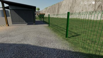 Plain metal fence placeable