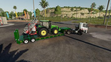 16 wheels Lowdeck Trailer