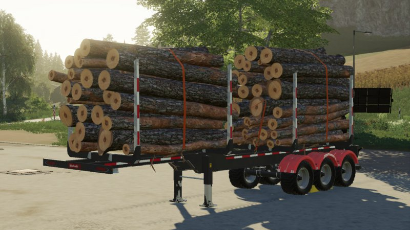 Biobeltz Log Trailer TR 500 - FS19 Mod | Mod for Farming
