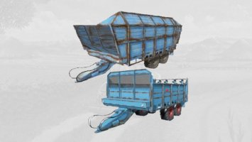 Fortschritt T088 and D353 silage trailer
