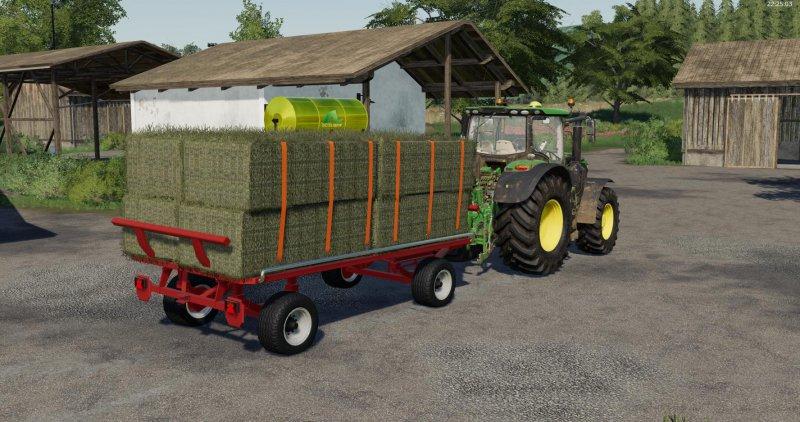 Krone Emsland bale trailer - FS19 Mod   Mod for Farming Simulator 19