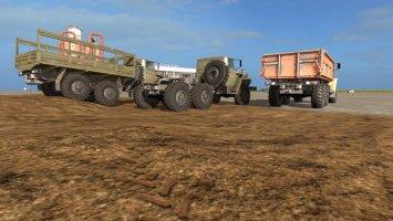 URAL truck set plus trailers FS17