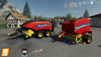 New Holland Baler USA Pack fs19