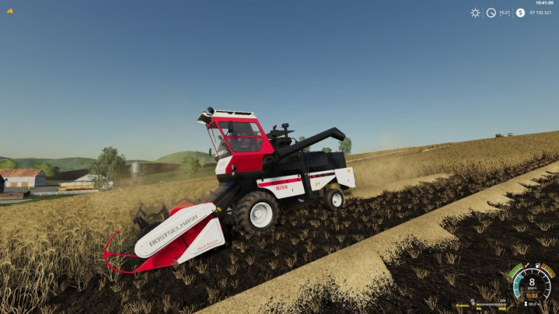 Rostselmash Niva Effect Pack - FS19 Mod   Mod for Farming Simulator