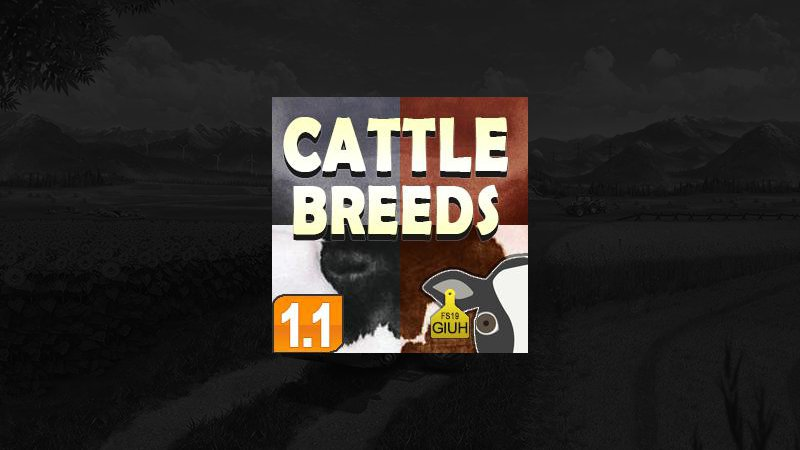 Cattle Breeds v1.1 FS19