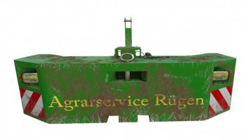 John Deere Gewicht Agrarservice Rügen 1.0.0.0 fs19