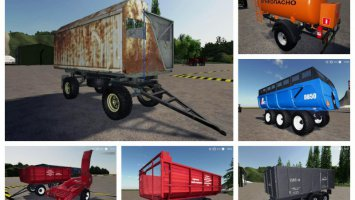 Paсk trailers for tractor v1.0 fs19