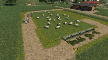Placeable open range sheep pasture fs19