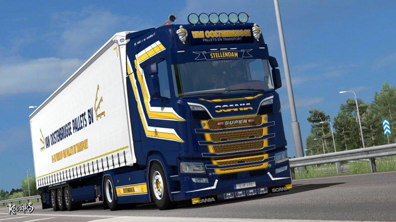 Scania S NextGen Van Oostenbrugge Combo Skin Pack - ETS2 Mod