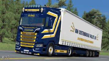 Scania S NextGen Van Oostenbrugge Combo Skin Pack ets2