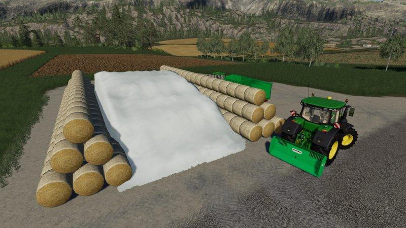 Round Bale Bunker Silo v1 1 - FS19 Mod | Mod for Farming