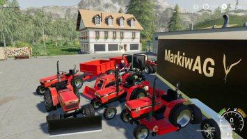 CASE IH 235 lawn Tractor and Car Hauler Mod Pack fs19