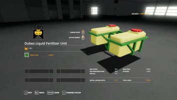 Dubex fertilizer tank beta fs19