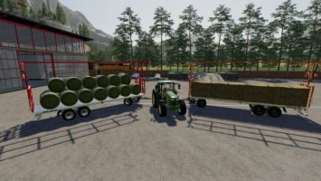Fliegl DPW210 Bales-Autoload fs19