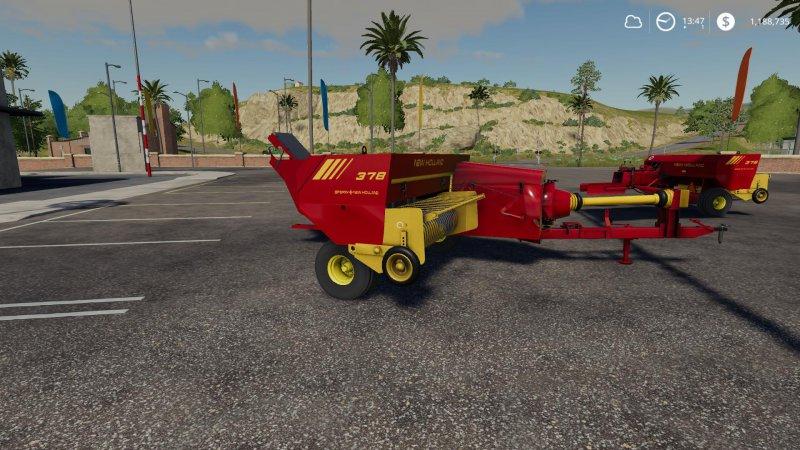 New Holland 378 Baler with Options v1 2 - FS19 Mod | Mod for