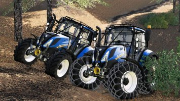 New holland T5 with forestry upgrade fs19