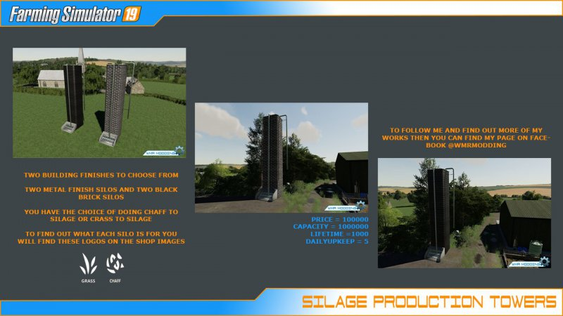 Silage Production Tower Pack - FS19 Mod | Mod for Farming Simulator