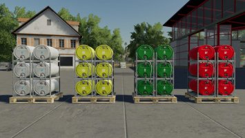 Pallets With Barrels