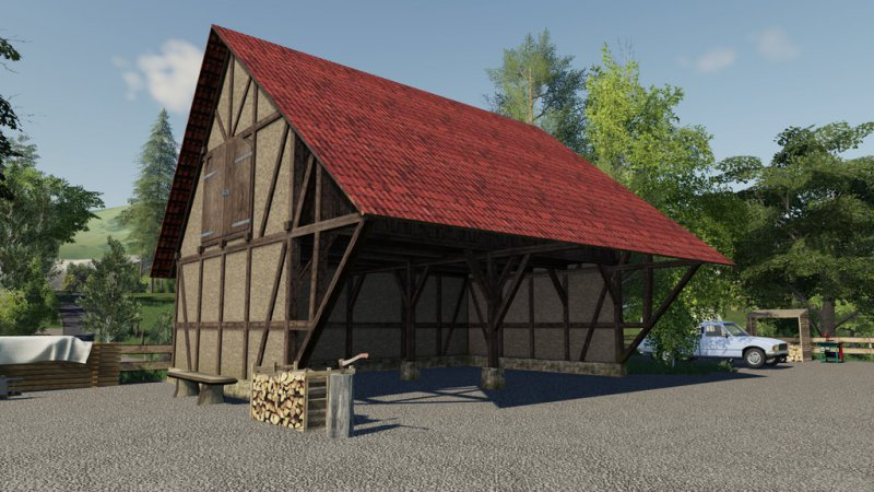 Timberframe Barn With Attic FS19