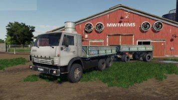 KAMAZ 5320 & TRAILER fs19