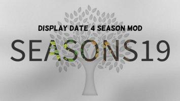 Display Date 4 Seasons Mod v1.0.0.2