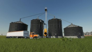 Large grain silo with dryer