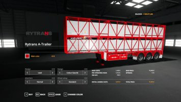 RYTRANS B-DOUBLE CATTLE TRAILERS V1.0 FS19