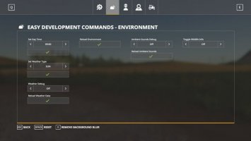 Easy Development Controls FS19