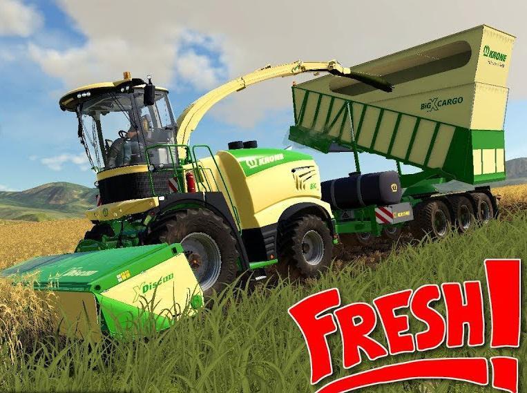 Krone Cargo Overloading Trailer - FS19 Mod | Mod for Farming