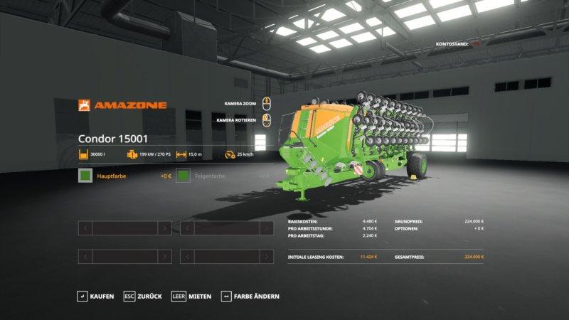 Amazone Condor 15001 FS19