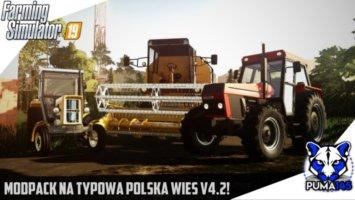 Modpack na Typową Polską Wieś v4.2 (Krowy, Świnie) fs19