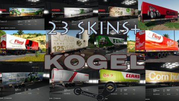 KOGEL AUTOLOADER PACK TRAILERS 23+ SKINS BY CROWERCZ fs19