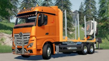 Mercedes Benz Actros 1845 (Autoload) Forestry Truck fs19