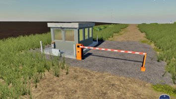 Placeable Security Booth With Barrier