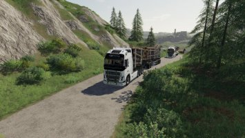 Volvo Fh16 Woodchip and trailer fs19