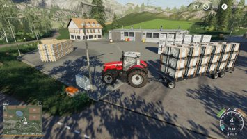 Autoload Pack With 3 Tiers Of Pallet Loading fs19