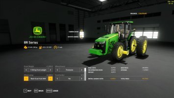 John Deere 8r for cotton Idk