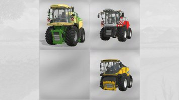 3 forage harvesters with capacity fs19