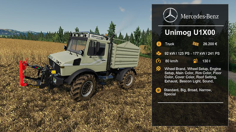 [FBM-Team] Unimog U1200, U1400, U1600 v1.1 FS19