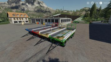 Trailer 3 axle with platform for Scania S580 truck v1.1 fs19