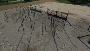 Concrete And Metal Fences Pack v1.1 FS19