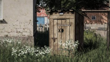 Wooden toilet v2 fs19